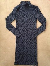 NEW Bebe leopard print long sleeve turtleneck bodycon dress Size P/S XXS XS
