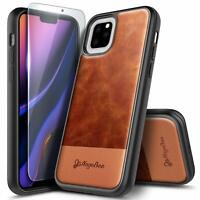Leather Case For iPhone 11 / 11 Pro Max, Shockproof Cover with Tempered Glass