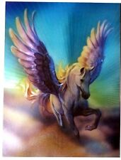 Alubild Alu-Bild : Pegasus geflügeltes Pferd in den Wolken Fantasy flying Horse