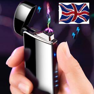 CHRISTMAS PRESENT. USB DOUBLE ARC LIGHTER.PLASMA ,WIND PROOF + FREE GIFT BOX/./.