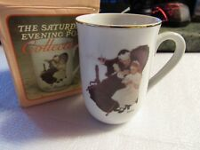"Norman Rockwell Saturday Evening Post Coffee Mug ""The Handkerchiefs"" 1986 In Box"