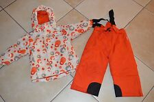 BORNINO => Blouson + Pantalon de ski neige rouge orange blanc 2 - 3 ans F