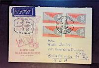 Germany DDR 1959 Leipziger First Day Cover / Airmail to USA - Z1167
