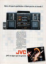 Publicité 1987  JVC  chaine hi-fi