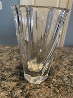 """Orrefors 6"""" Crystal Twist Vase Sweden Clear"""