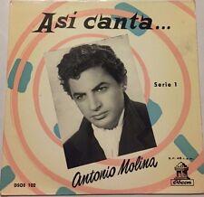 """ANTONIO MOLINA -EL AGUA DEL AVELLANO / LA SERRANIA- 1958 SPANISH 7"""" EP PS"""