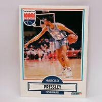 Fleer 90 NBA Basketball Card #166 Harold Pressley - Sacramento Kings