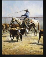 Martin Grelle Artist Proof -Giclee on Canvas IN TEXAS DUST - cattle - $850 issue