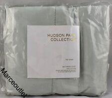 Hudson Park 600 Thread Count Sateen 100% Cotton King Flat Sheet Opaline