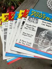 Six (6) Dave Campbell's Texas Football Newsmagazine From 1971 To 1972. See Below