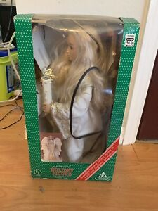 Holiday Creations Animated Christmas Angel 90s In Box Tested Works
