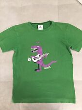 Lacoste Green Shirt Sz 14 Crocodile With Guitar Short Sleeves