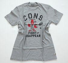 NUEVO All Star Converse Camiseta Camisa Para Hombres Gris Chucks T.M Pelea (A3)