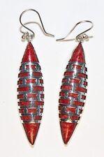 Silver Earrings Foam Coral Red Silver Earrings Korallenschmuck