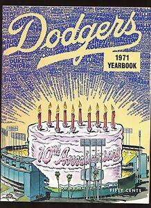 1971 Los Angeles Dodgers Yearbook EXMT