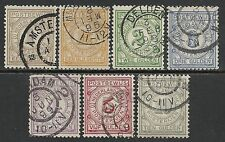 Netherlands 1884 NVPH Postbewijs PW1-PW7  CANC  VF