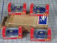 "racing champions 3.25"" length blue 50th anniversary set of 4 cars NIP unused"