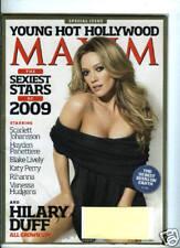 Maxim Magazine January 2009 HILARY DUFF Scarlett Johansson Blake Live New Sealed