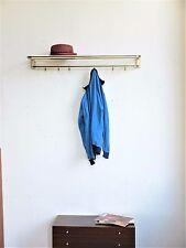 True Vintage Garderobe Wandgarderobe 60s brass color 6 Garderobenhaken Hutablage