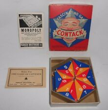 Vtg 1939 Parker Brothers Fascinating Game Contack w/Box Instructions Complete