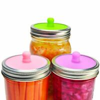 6-Pack Waterless Airlock Fermentation Lids for Wide Mouth Mason Jars, Mold Free
