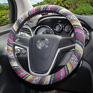 Universal 38cm/ 15'' Car Auto Steering Wheel Cover Wrap Natural Fibers Anti Slip