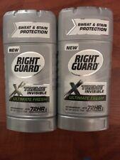 2 Right Guard Xtreme Invisible Ultimate Fresh Antiperspirant Deodorant 2.6 oz Ea