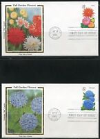 UNITED STATES COLORANO  LOT OF  5  1995  GARDEN FLOWERS FIRST DAY COVERS