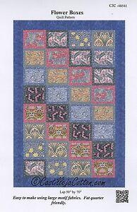 """FLOWER BOXES  Quilt Fabric Kit using TT Revive Art Nouveau 50"""" x 70"""""""