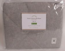 NWT Pottery Barn Linen silk blend standard sham, flagstone gray