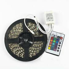 10M RGB 600Leds 5050 LED Light Strip Non-waterproof +24-Keys Controller DC 24V