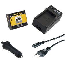 Batteria Patona + caricabatteria casa/auto per Nikon Coolpix S1000pj,S1100pj