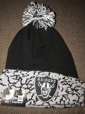 f3cafdf9142 NWT New Era Adult NFL Oakland Raiders Cuffed Chaos Elephant Print Knit Pom  Hat