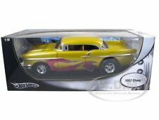 1957 CHEVY CHEVROLET PRO STREET DRAG CAR MET YELLOW 1:18 MODEL HOTWHEELS 21356