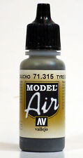 Vallejo Model AIR - Tire Tyre Black 71.315 Acrylic Paint 17ml Airbrush Ready