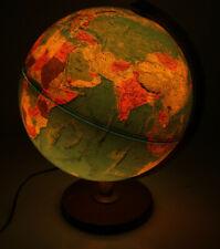 "Replogle 12"" World Horizon Series Light Globe Lamp Illuminated MCM Wood Base"