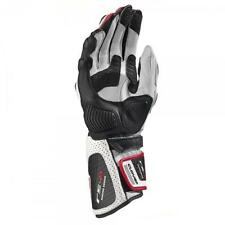 GUANTI MOTO RACING CLOVER RS-8 BIANCO/ROSSO TG. S PELLE BOVINA + CANGURO