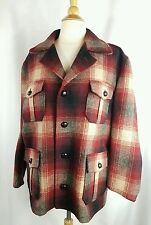 Womens RALPH LAUREN VTG Wool Blend Red Plaid Jacket Coat USA UNION MADE sz 6
