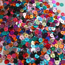 6mm Sequin Mix Bright Colors Multiple Finishes. Made in USA