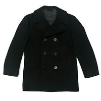 Vintage 1969 US Navy Military Issued Wool Kersey Pea Coat Dale Fashions 40 R
