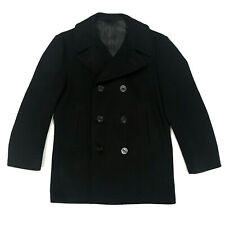 0a52c873230 Vintage 1969 US Navy Military Issued Wool Kersey Pea Coat Dale Fashions 40 R