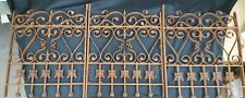New ListingArchitectural Salvage 3 Piece Matching Ornate Wrought Iron Window Grates