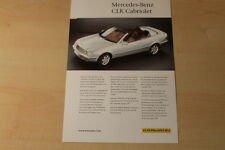 70383) Karmann Mercedes CLK Cabrio W208 Prospekt 199?