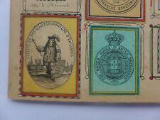 Ex-libris ancien  ,Monogrammes ,armoiries collés sur carton dont COLLECTIONNEURS