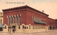 D73/ Mankato Minnesota Mn Postcard c1910 First National Bank Building