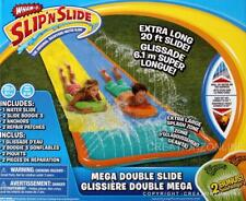 Wham O Backyard Slip and Slide Mega Double Water Racer 20 Foot Long Waterslide