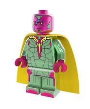 Marvel Custom Mini Figure - Vision * Chrome * - fit Lego