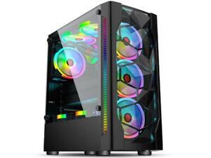 Gaming PC RGB Desktop Computer AMD Ryzen 5, GTX 1060, 16GB, 240GB SSD, 2T WiFi
