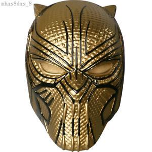 Marvel Black Panther Villain Erik Killmonger Cosplay Props Helmet Full Face Mask