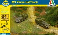 Italeri 1/72 7510 WWII US M3 75mm Half-Track (2 Fast Assembly Models)
